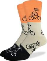 Good Luck Sock Men's Dogs Riding Bikes Crew Socks