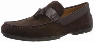 Geox Men's Moner Suede and Leather Driving Moccasin Shoe