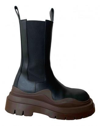 Bottega Veneta Storm Black Leather Ankle boots