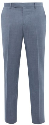 Paul Smith Soho Fit Wool Twill Trousers - Mens - Blue