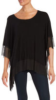 Context Mesh Accented Poncho Top