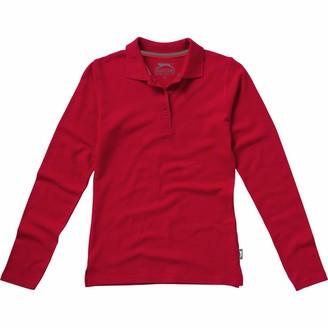 Slazenger Womens/Ladies Point Long Sleeve Polo Shirt (S) (Red)