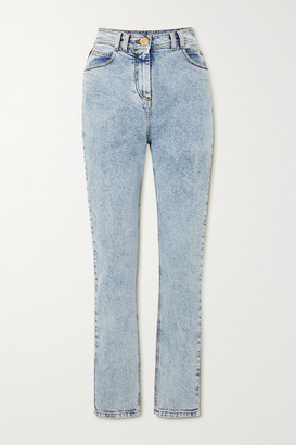 Balmain Acid-wash High-rise Skinny Jeans - Blue