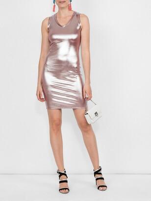 Alexandre Vauthier metallic dress pink