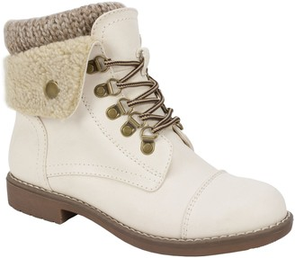 White Mountain Cliffs by Lace-Up Ankle Booties- Downey
