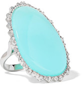 Kimberly McDonald - 18-karat White Gold, Opal And Diamond Ring - Turquoise