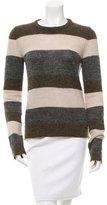 Balenciaga Metallic-Accented Striped Sweater