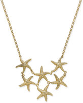 Charter Club Gold-Tone Starfish Bib Necklace, Only at Macy's