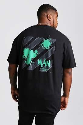 boohoo Big And Tall MAN Exclusive Drip Graffiti T-Shirt