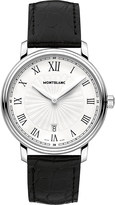 Montblanc 112633 Tradition stainless steel and leather watch