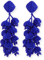 Sachin + Babi Beaded Fringe Clip-On Earrings