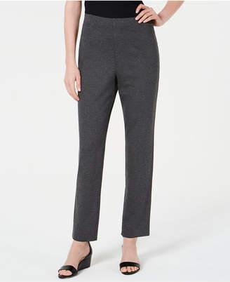 Karen Scott Pull-On Straight-Leg Pants