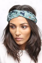 Rare Green Multi Floral Printed Crepe Headband