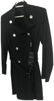Emporio Armani Black Cotton Trench Coat for Women