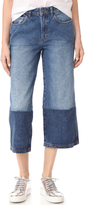 Robert Rodriguez Two Tone Denim Gaucho Pants