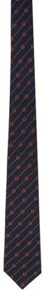 Gucci Blue Silk GG Tie