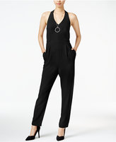 Bar III Halter Jumpsuit, Only at Macy's