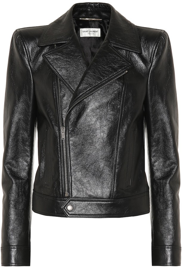 6225d430 Leather biker jacket