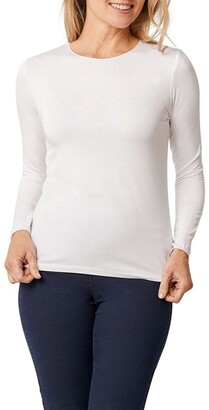 Blue Illusion Long Sleeve Crew Neck Top