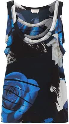 Alexander McQueen Layered Floral Vest Top