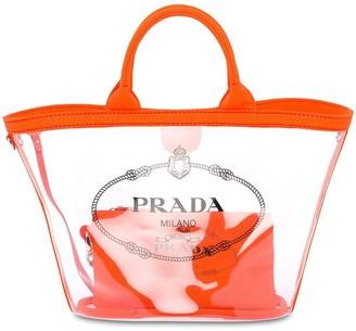 Prada Sheer Logo Tote Bag