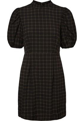 AWARE BY VERO MODA Maddie Plaid Puff Sleeve Dress
