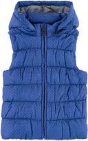 Petit Bateau Sleeveless padded jacket with a fleece lining
