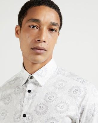 Ted Baker Ls Floral Dot Print Shirt