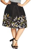 City Chic Garden Party Skirt
