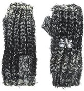 Betsey Johnson Women's Mixed-Yarn Knit Fingerless Glove