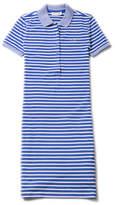 Lacoste Women's Striped Stretch Mini Cotton Piqué Polo Dress