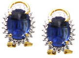 Tresor Collection - 18Kt yellow Gold Earring With Kyanit Oval & Diamond