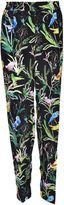 N°21 Botanical Print Trousers From Black Botanical Print Trousers With Elasticated Waistband And Straight Fit.