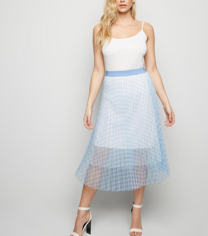 New Look Check Mesh Skirt