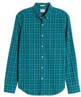 J.Crew J. CREW Slim Fit Stretch Secret Wash Plaid Sport Shirt