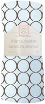 Swaddle Designs Marquisette Swaddling Blanket with Mod Circles - Lime