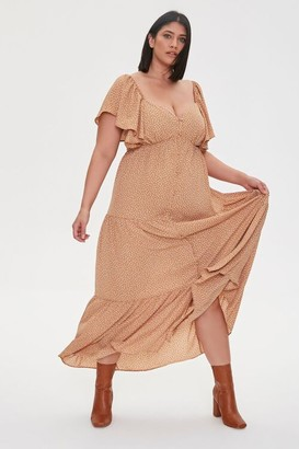 Forever 21 Plus Size Spotted Maxi Dress