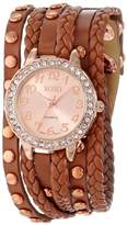 XOXO Women's XO5658 Analog Display Quartz Rose Gold Watch