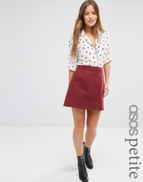 Asos Denim A Line Skirt in Oxblood