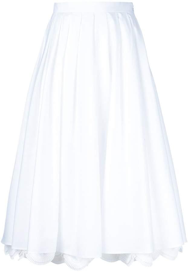 Prada scalloped hem skirt