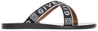 Givenchy 4G crossed leather sandals