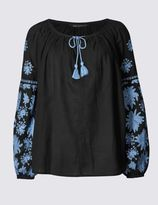 Marks and Spencer Pure Cotton Embroidered Shell Top