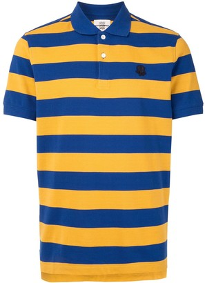 Kent & Curwen Striped Flower-Patch Polo Shirt