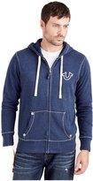 True Religion Men's Big T Zip Up Hoodie Sweatshirt Jacket in