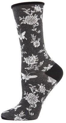 Natori Mariposa Fashion Crew Socks