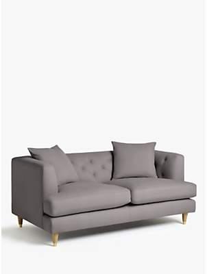 John Lewis & Partners Chester Medium 2 Seater Sofa, Light Leg, Lucca Umber Velvet