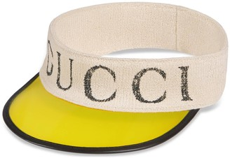 Gucci Vinyl visor with logo