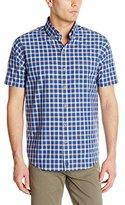 Cutter & Buck Men's ShortSleeve Sleeve Horizon Plaid Shirt