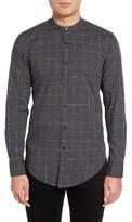BOSS Men's Raimondo Slim Fit Check Mandarin Collar Shirt