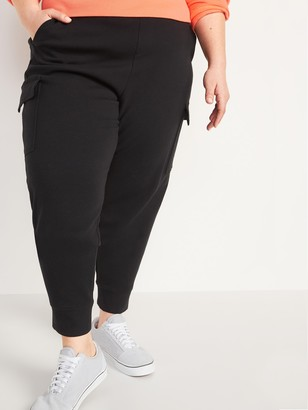 Old Navy High-Waisted Dynamic Fleece Cargo Plus-Size Jogger Sweatpants